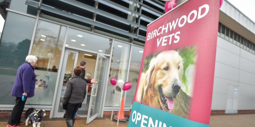 The outside of the new Birchwood Veterinary Surgery