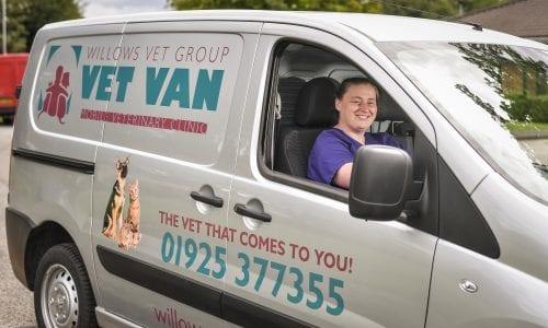 The vet van in Warrington